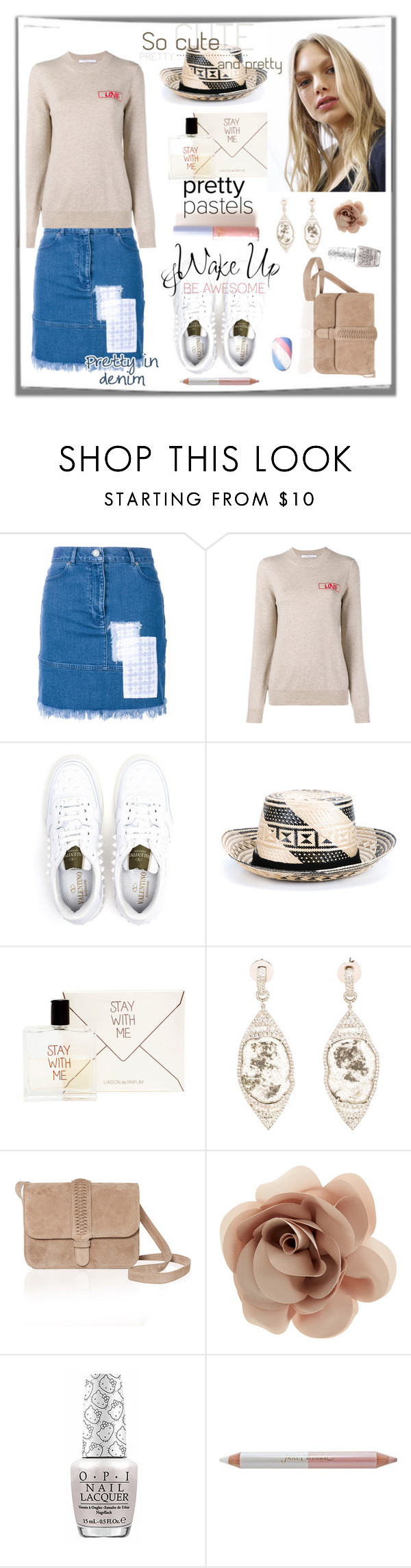 """""""The Pretty Things..."""" by sue-mes ❤ liked on Polyvore featuring House of Holland, Givenchy, Valentino, YOSUZI, Liaison De Parfum, Saqqara, GRACE Atelier De Luxe, Accessorize, OPI and Jane Iredale"""