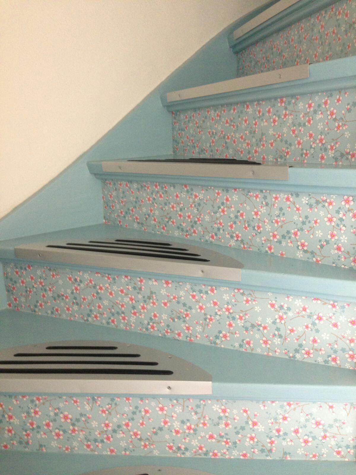 leuk idee pip behang op de stootborden van de trap resultaten