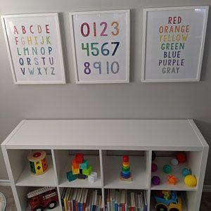 Zahlen Kunstdruck, sofortiger Download, Ziffern drucken, Kinderzimmer Wandkunst, Kinderzimmer, ABC Print, Alphabe - Kinder Blog #toddlerrooms