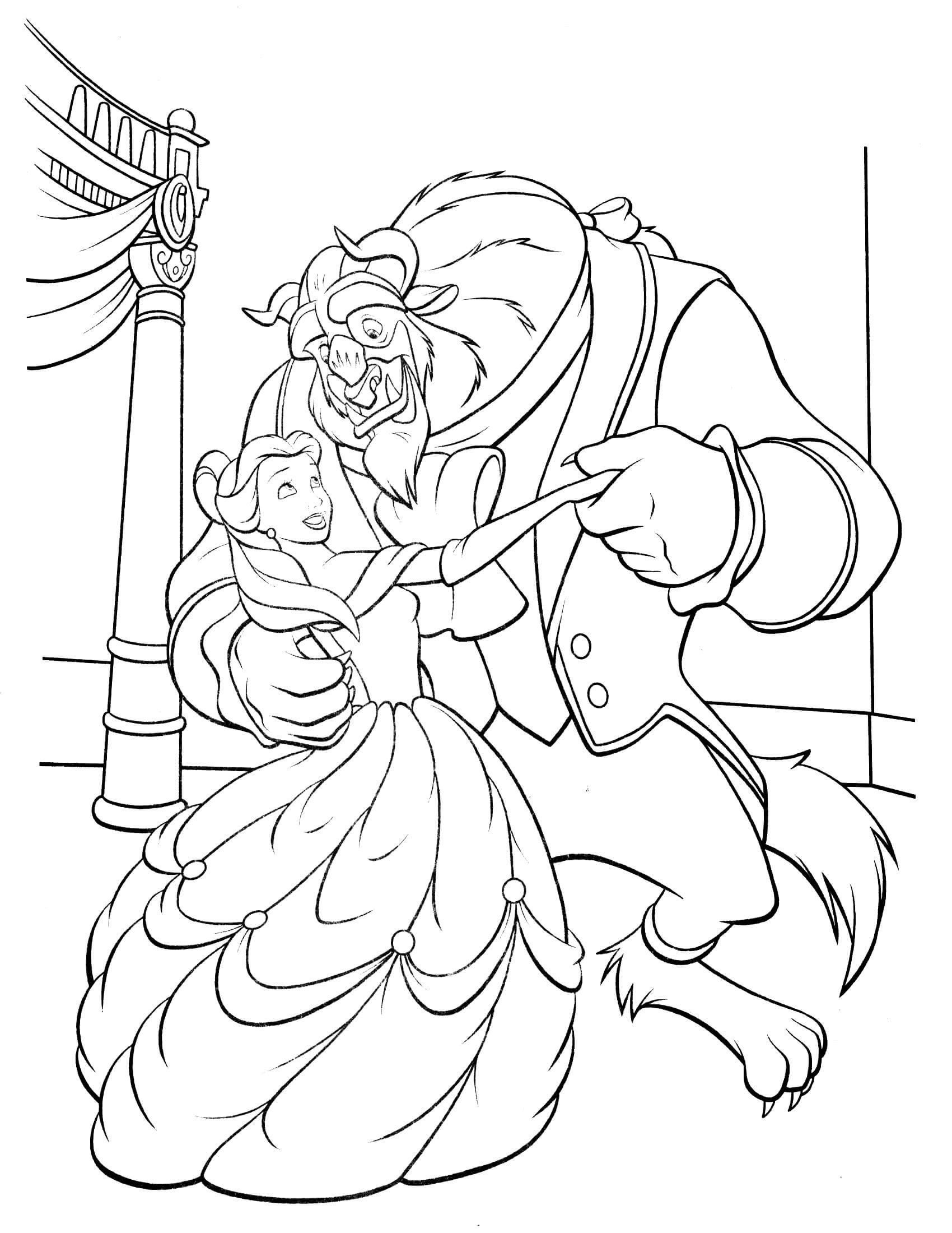 Beauty And Beast Coloring Pages Beauty And Beast 11 Coloringcolor Dance Coloring Pages Disney Coloring Pages Cartoon Coloring Pages