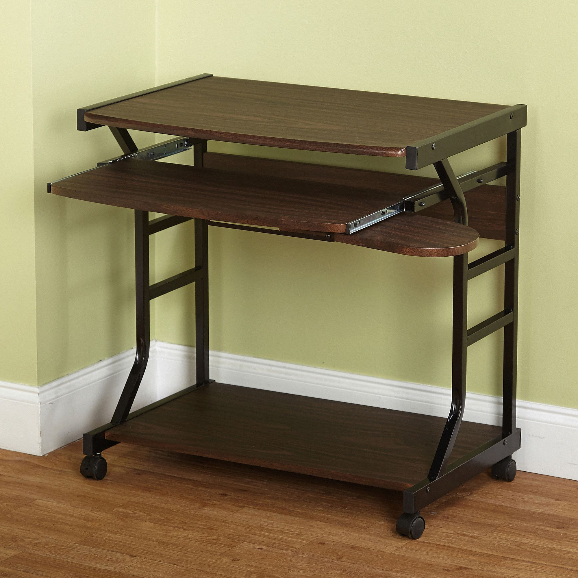 Small compact mobile portable student computer berkeley desk with wheels only 10 in stock order today product description turn any room or area into your