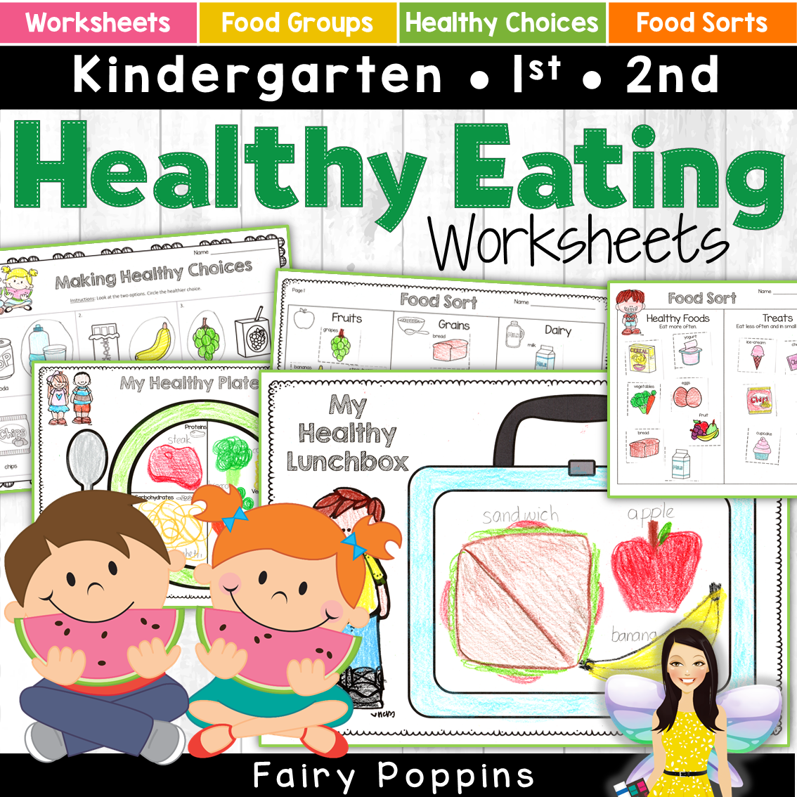 Healthy Eating Worksheets Food Groups Nutrition