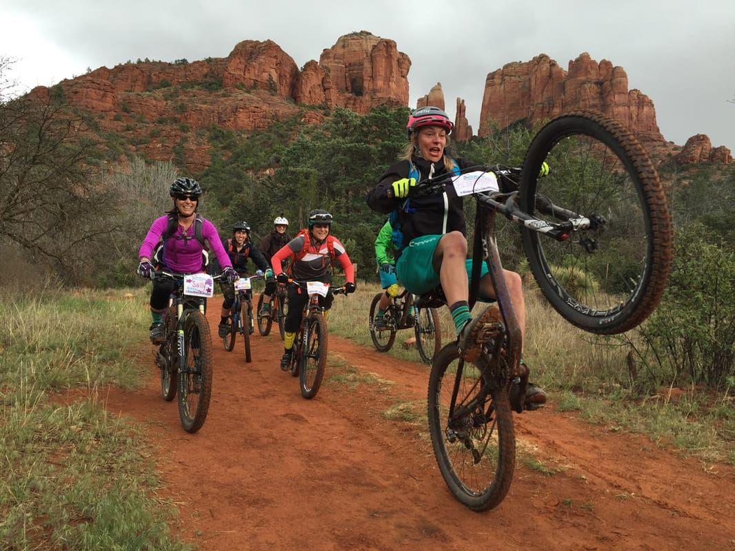 Sedona Arizona Ladies Allride Mountain Bike Skills Camp Ladies Allride Bike Camping Bike Ride Mountain Biker