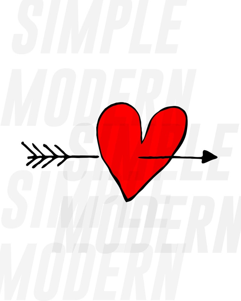 Digital Download Love Arrow Svg Files Hand Drawn Tribal Heart Arrow Svg Eps Pdf Png Dxf Instant Download Vector Files In 2020 How To Draw Hands Tribal Heart Heart Hands Drawing