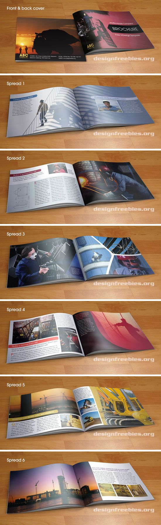 Free multipurpose booklet type corporate brochure InDesign template ...