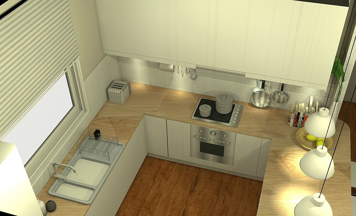 Kitchen Design Works Amusing A Domestic Kitchen Design Render  Plot Design Projects Decorating Design