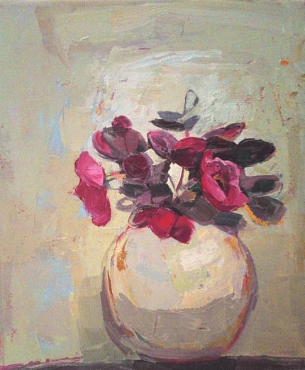 Kirsty Wither Vase And Background The Same Cool Flower Art