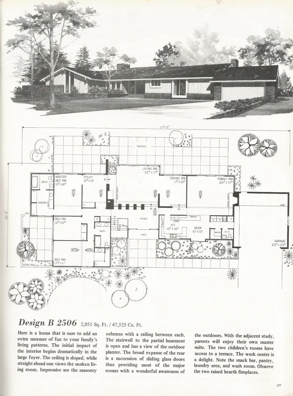 Vintage House Plans: New and Refreshing Mid Century