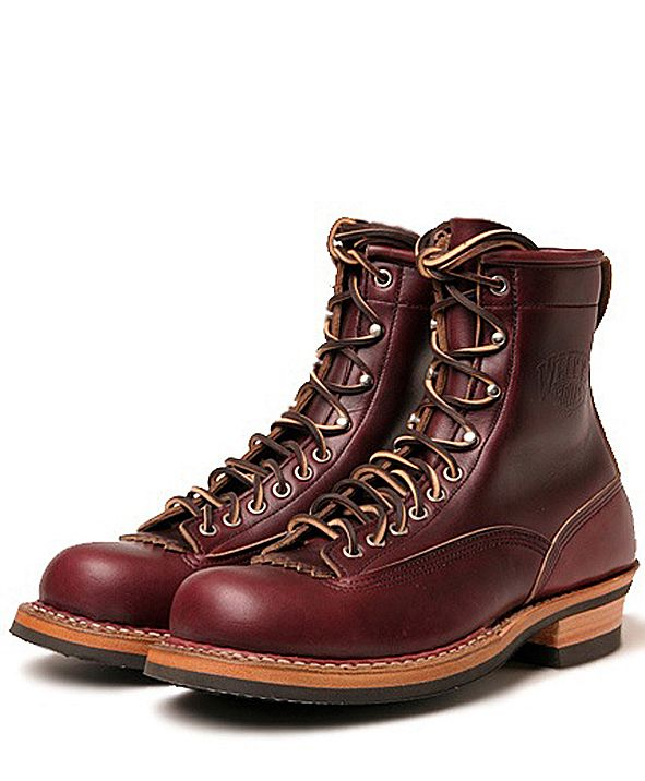 0ad5e62b79764 found this wonderful classic WHITE S SMOKE JUMPER at japanese EMPTY GARAGE.  this lace-to-toe boot is made of burgundy chromexcel leather com.
