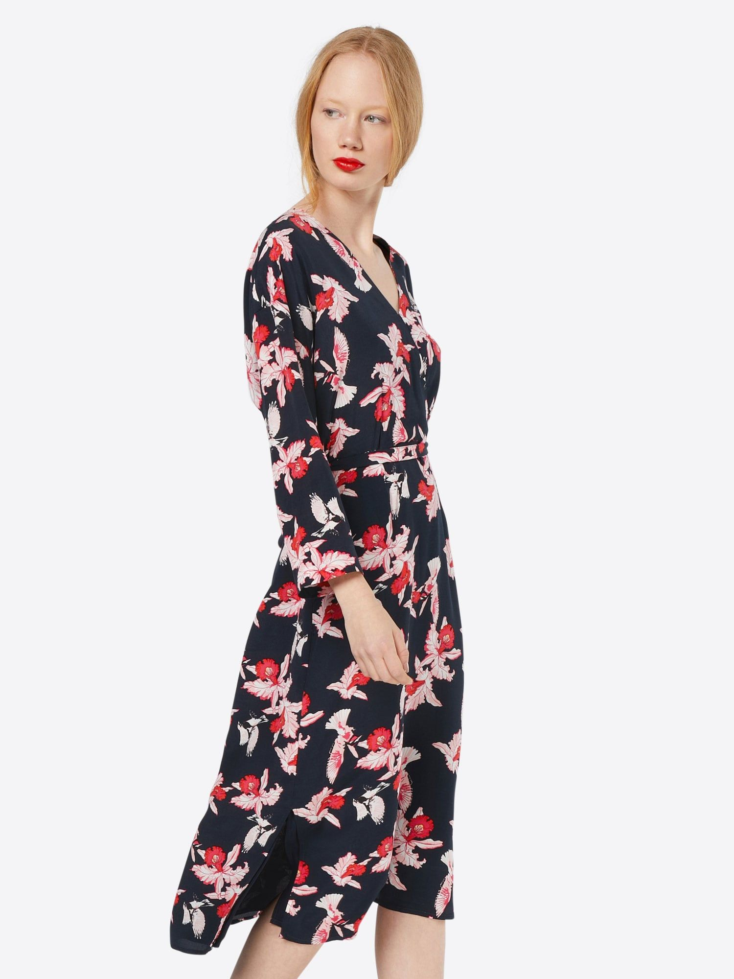 Modström Kleid 'Fedora' Damen, Navy / Altrosa / Rot, Größe 38 #fedoras
