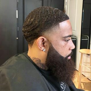 taper fade with waves haircut