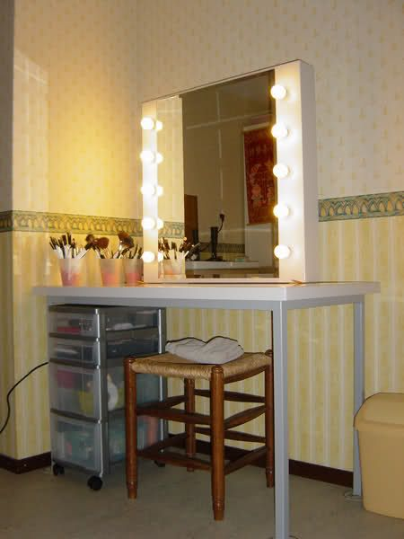 Superieur Make Up Studio Mirror/table For Small Spaces..Get Inspired! ;