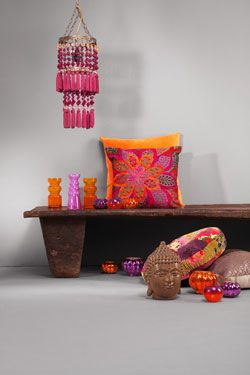 indiaas interieur interior pink orange