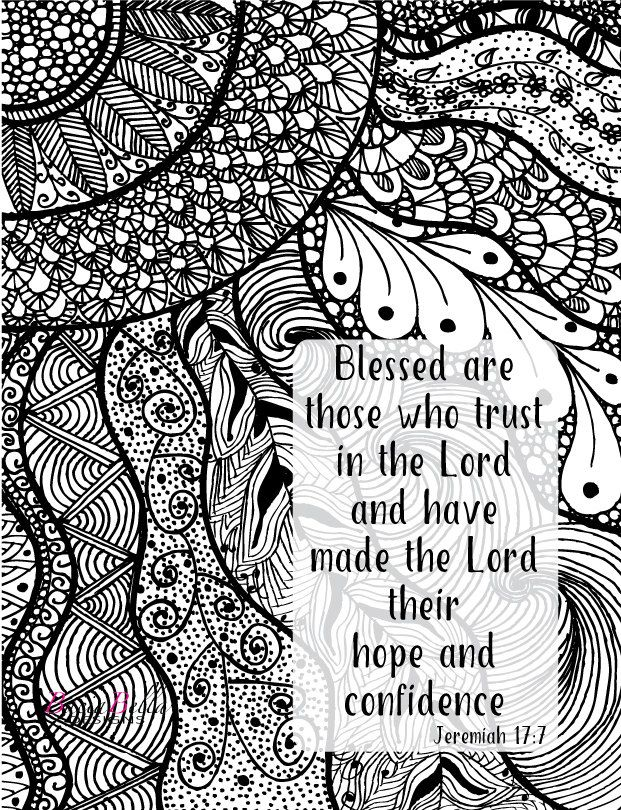 Zen Tangle Sunburst Jeremiah 177 Adult Coloring Page Blessed Are