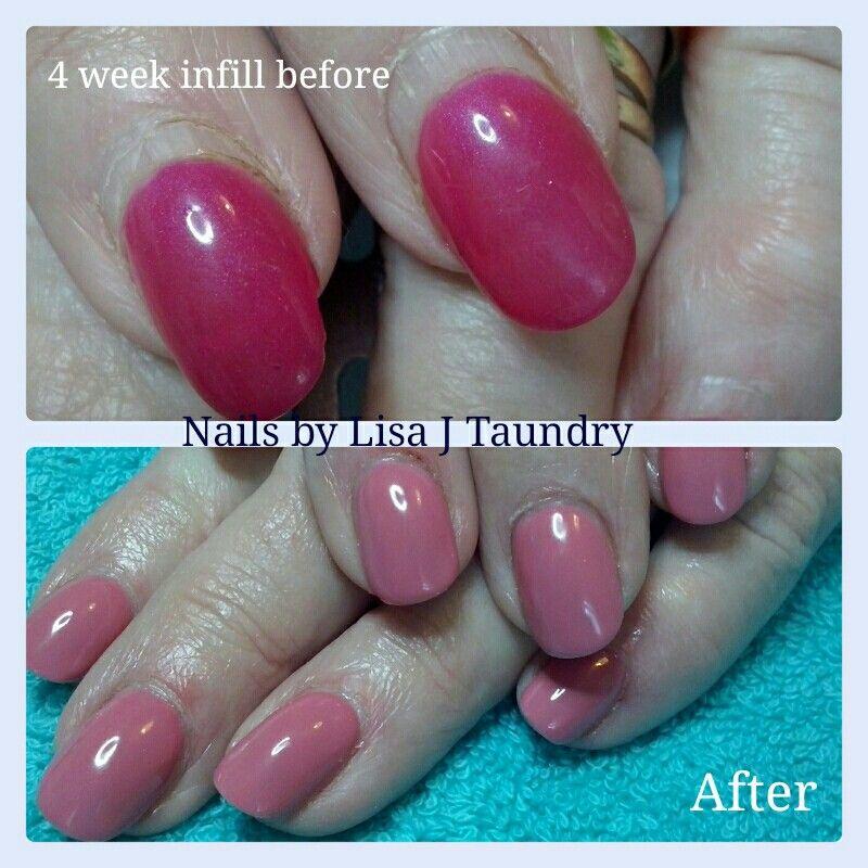 Before And After Infills 4 Weeks Old X Acrylic Nail Art Nail Art Natural Nails