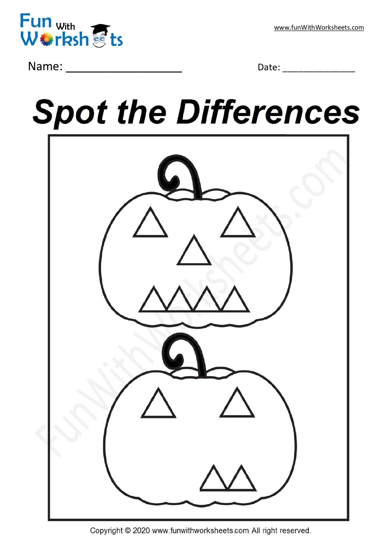 Pin on Spot the Difference Free Printable Worksheets