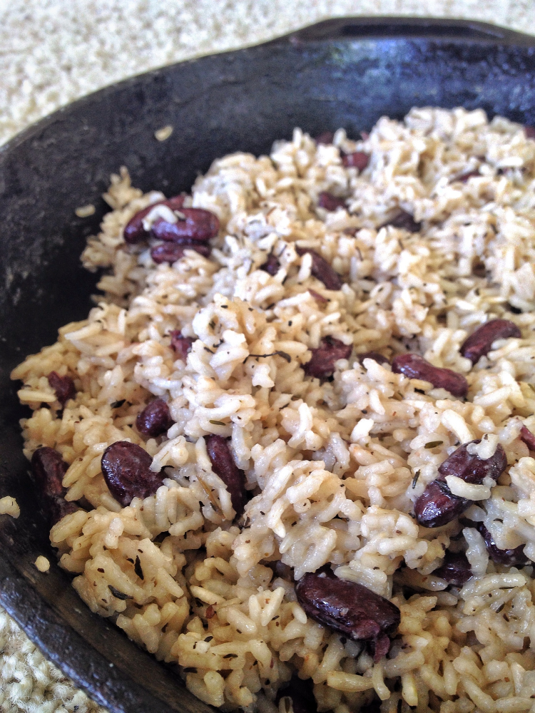 Coconut Rice With Red Beans Vegan Coconut Rice Rice Beans