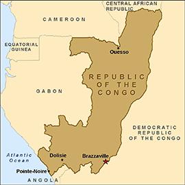 Map - Republic of the Congo | Central Africa | Pinterest | Congo ...