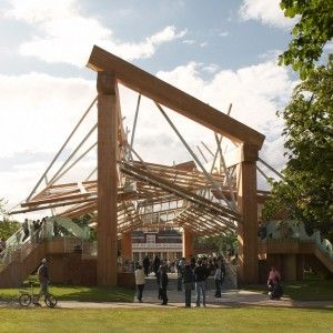 "Frank+Gehry's+wooden+Serpentine+Gallery+Pavilion+in+2008+was+""hugely+hefty"""