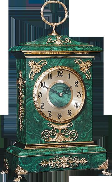Malachite Clock «Primavera»