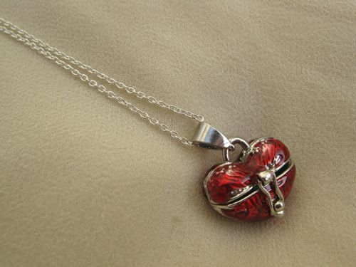 Heart wish box necklace This wishbox on a sterling silver