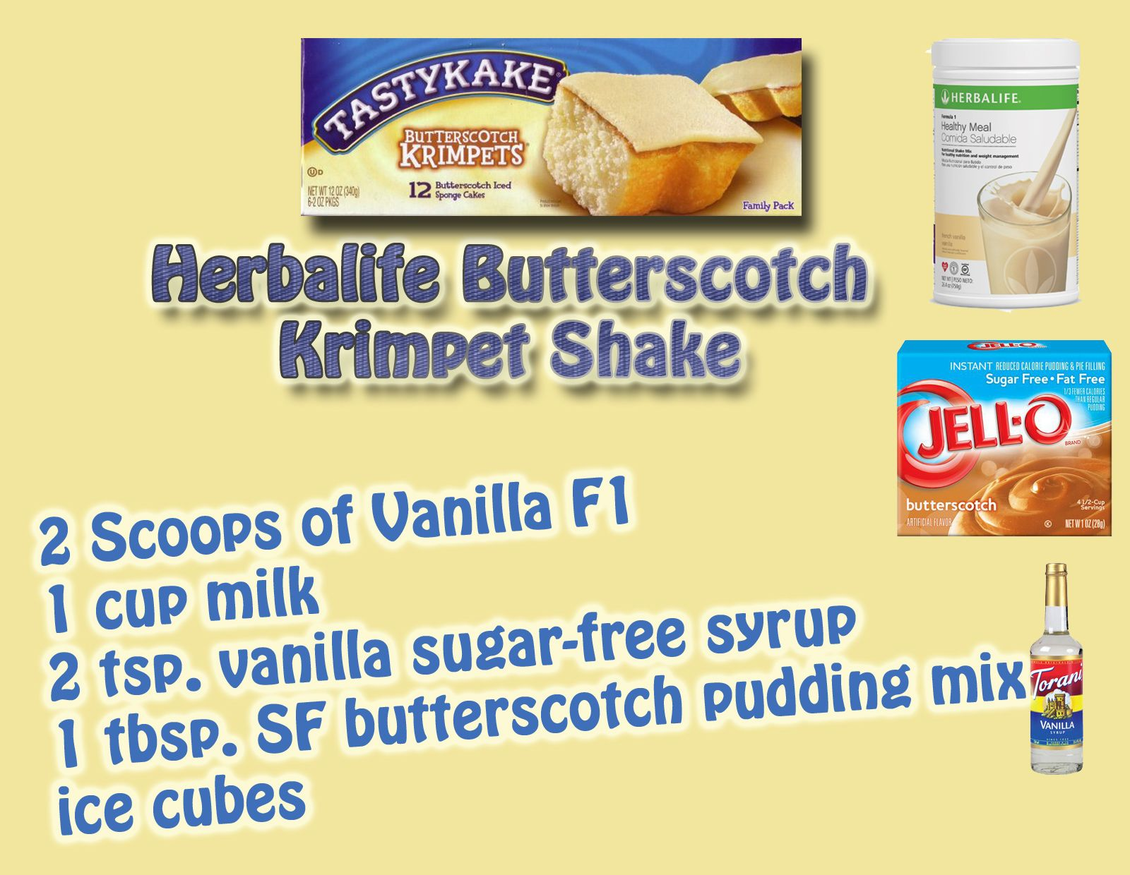 Herbalife Butterscotch Krimpet Shake with Vanilla F1   Herbalife and ...
