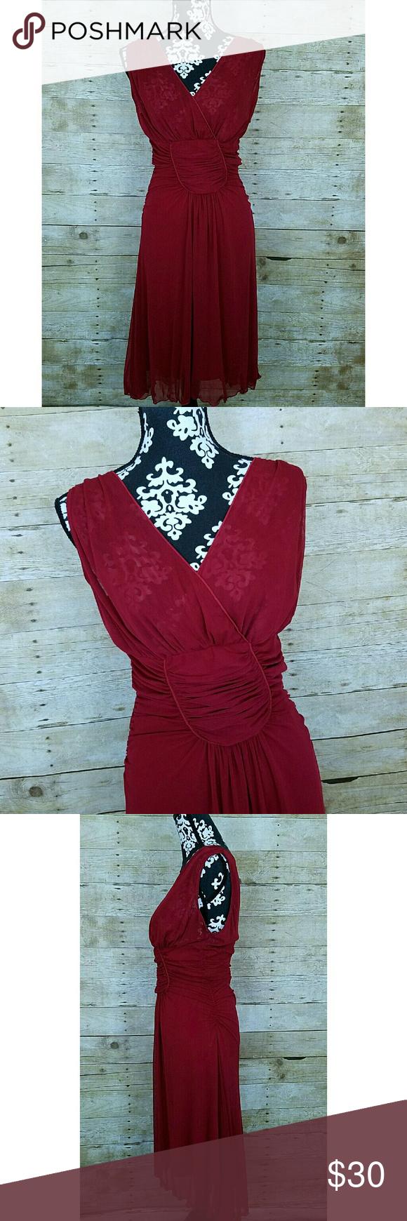 "NWT Studio M Dress Women's Studio M Dress  Sleeveless  Sheer at bust  Sheer overlay with lining  Red  Size Medium  NWT: Retail price: $118   Measurements laying flat:  Underarm to underarm: 17""  Length: 49"" Studio M Dresses"