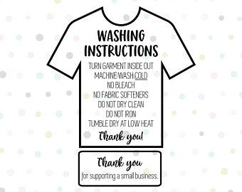 Image result for care instructions for vinyl shirts