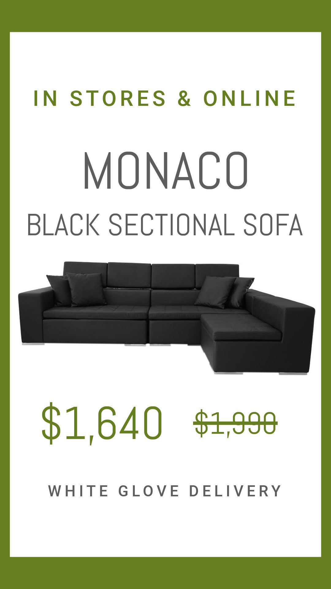 Tremendous Monaco Sectional Sofa Black Sale Black Leather Sofas Forskolin Free Trial Chair Design Images Forskolin Free Trialorg