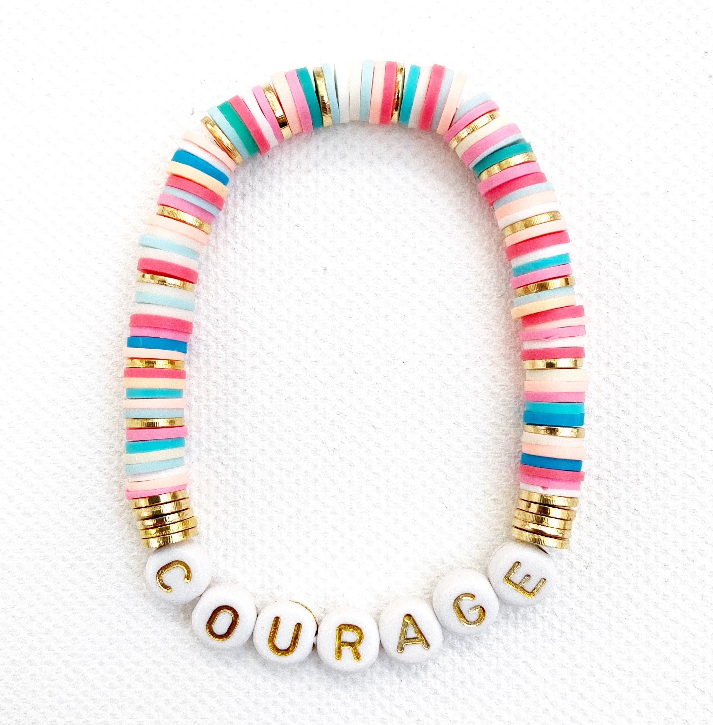 CHILDREN PERSONALISED WOODEN RAINBOW SURF BRACELET BIRTHDAY PARTY-ANY NAME,COLOR