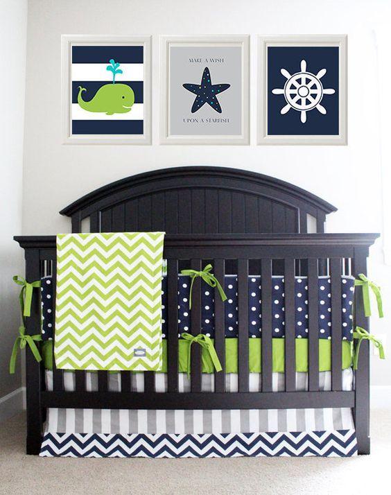 Nautical Baby Boy Nursery Room Ideas: 40 Adorable Nursery Decorating Ideas