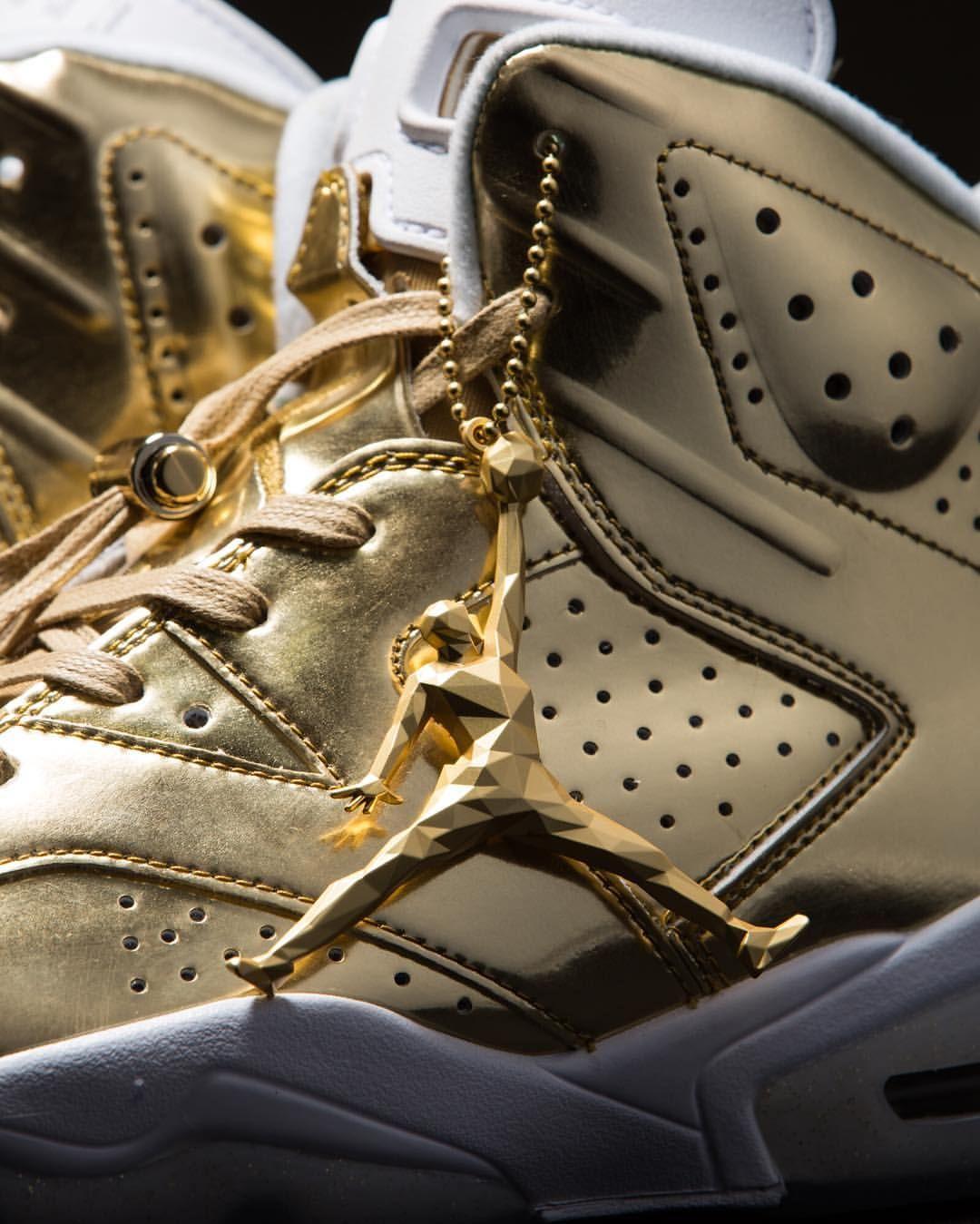 reputable site ff4ec 0326d Air Jordan 6 Retro Pinnacle 'Metallic Gold' in 2019   Shoes ...