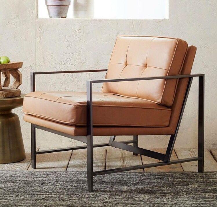 Bronze metal frame chair by WestElm | Cascara / OBYU | Pinterest ...
