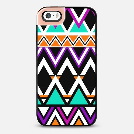 Multicolor Tribal Pattern iPhone 5S Metaluxe Case by Organic Saturation | Casetify Get $10 off using code: 53ZPEA