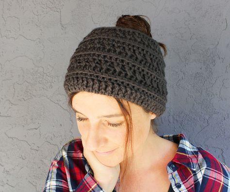 Free Crochet Ponytail Hat Pattern Boho Crochet Patterns