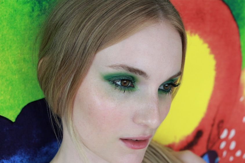 Freshen up your #summer #beauty routine with a look inspired by the elements! #Makeup artist Tina Turnbow used Laura's Caviar Stick Eye Colour in Turquoise to create this lime green eye for @NYLON Magazine.