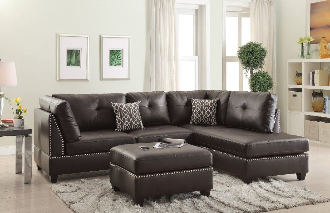 Briley Reversible Sectional With Ottoman Ey Sectional