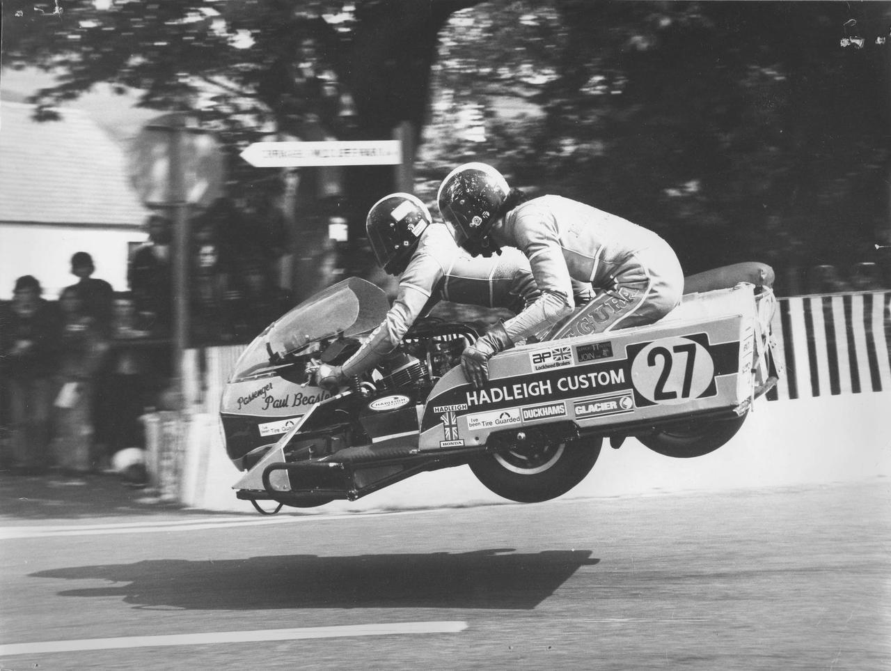 Jumping sidecar.