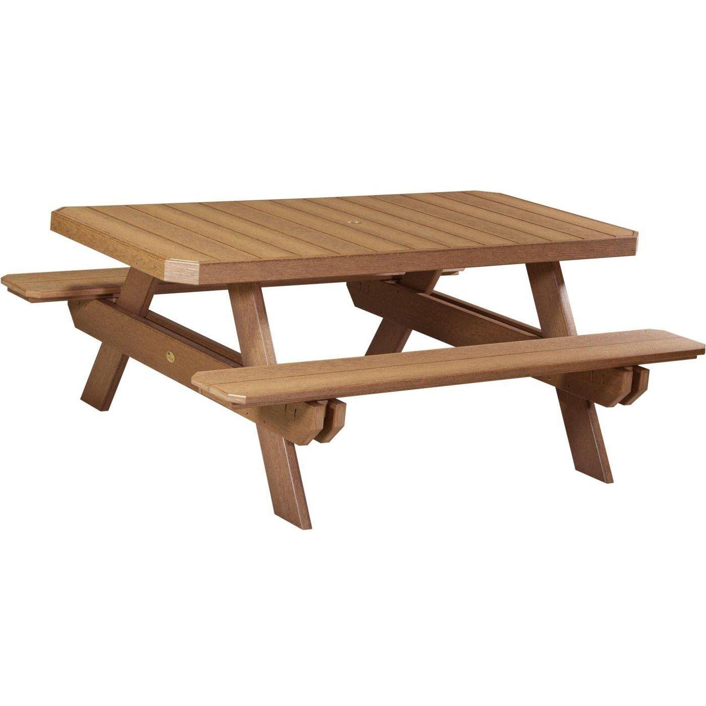 LuxCraft Recycled Plastic Rectangular Picnic Table Woodworking - Recycled plastic octagon picnic table