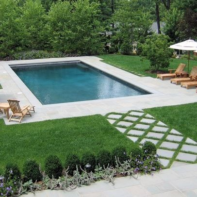 Small Decking Backyard Pool Landscaping Rectangular Swimming Pools Backyard Landscaping Plans