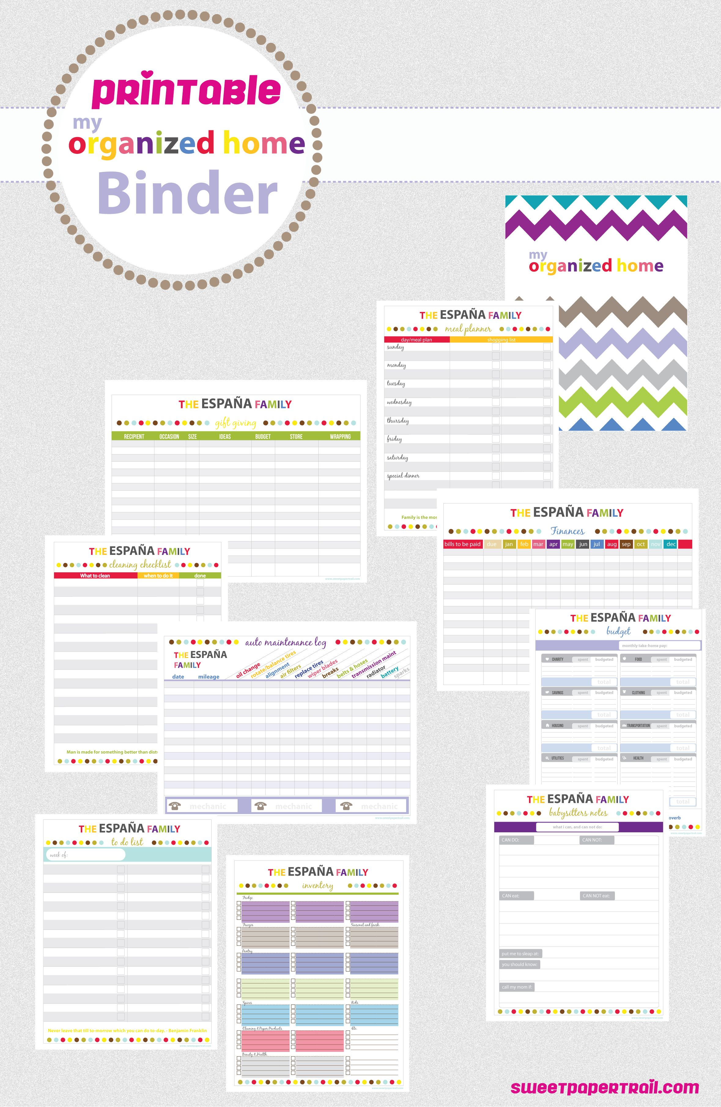 photograph regarding Free Printable Household Binder known as Printable 2013 Planner Funds Binder small business, Dwelling