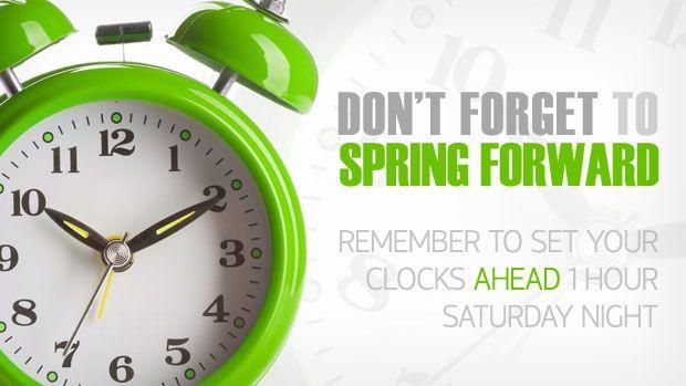 Forward+Spring+Ahead+Time+Change | Move Clocks Forward 1 Hour.