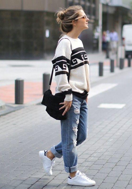 Boyfriend Jeans Outfit-Ideen Sie können jetzt folgen!