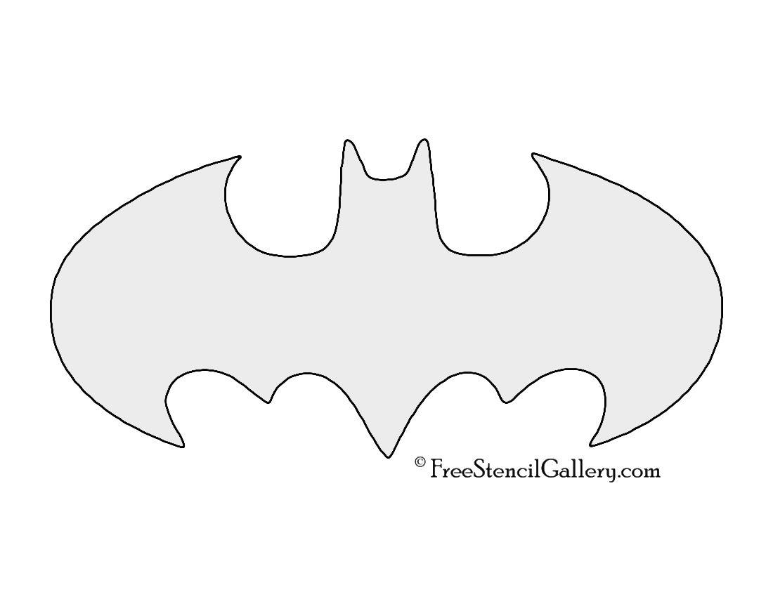 Batman symbol stencil a papercut craft pinterest