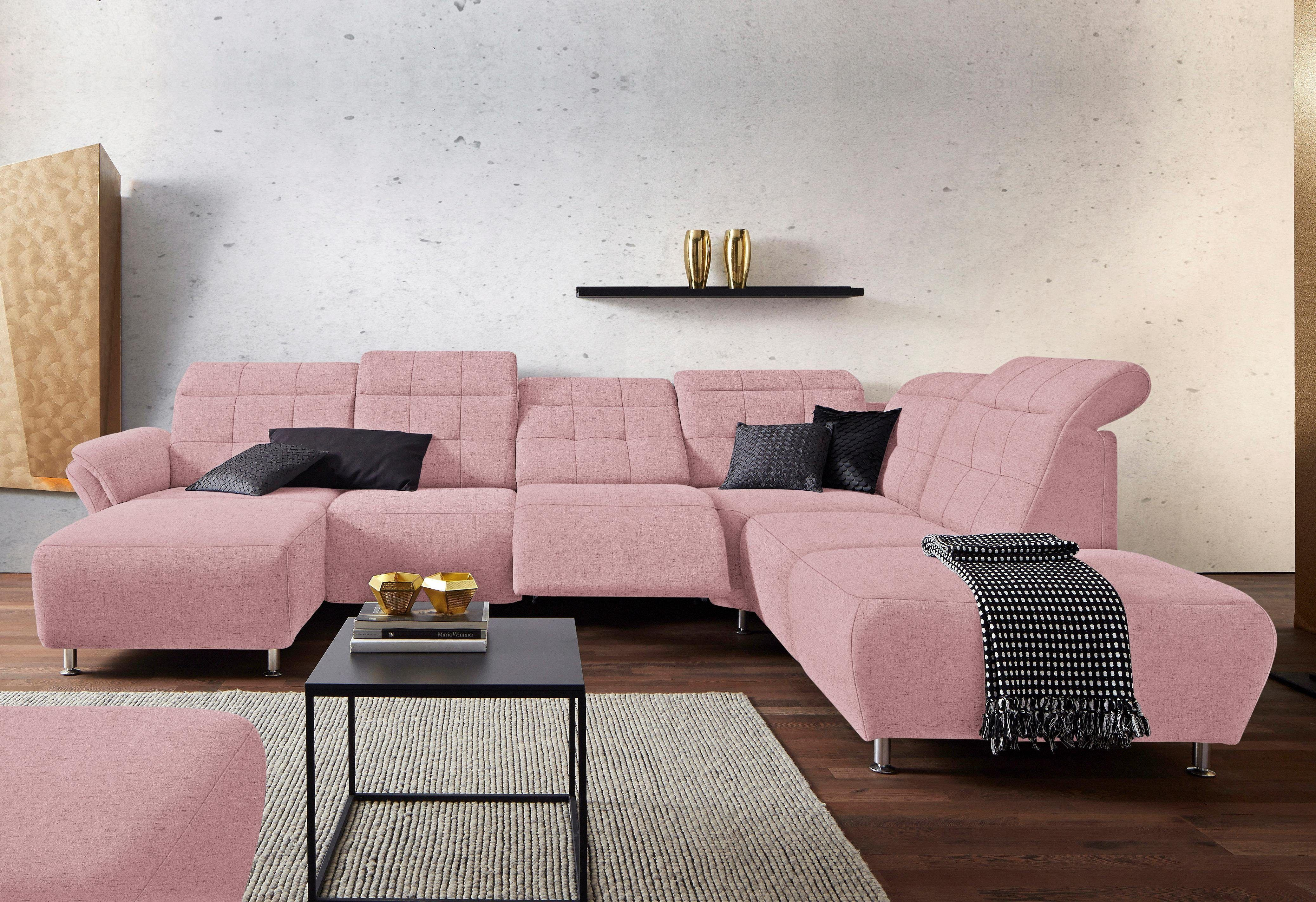 Astounding Wohnlandschaft Rosa Referenz Von Rosa, Ottomane Rechts, Fsc®-zertifiziert, Places Of Style