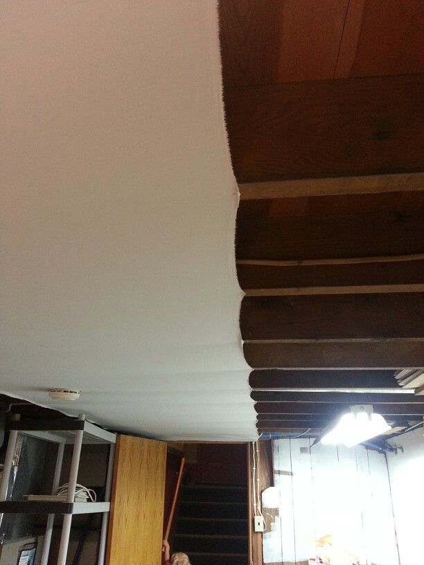 it s hard to see but you can cover your ugly basement ceiling with rh pinterest com