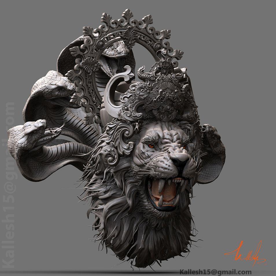 Narasimha, , kallesh15 CGSociety Sculpture artist, 3d