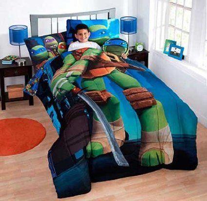 Nickelodeon Teenage Mutant Turtles 7 Piece Bed Set Full Size For More Information Visit Image Link Full Bedding Sets Full Comforter Sets Kids Bedding Sets