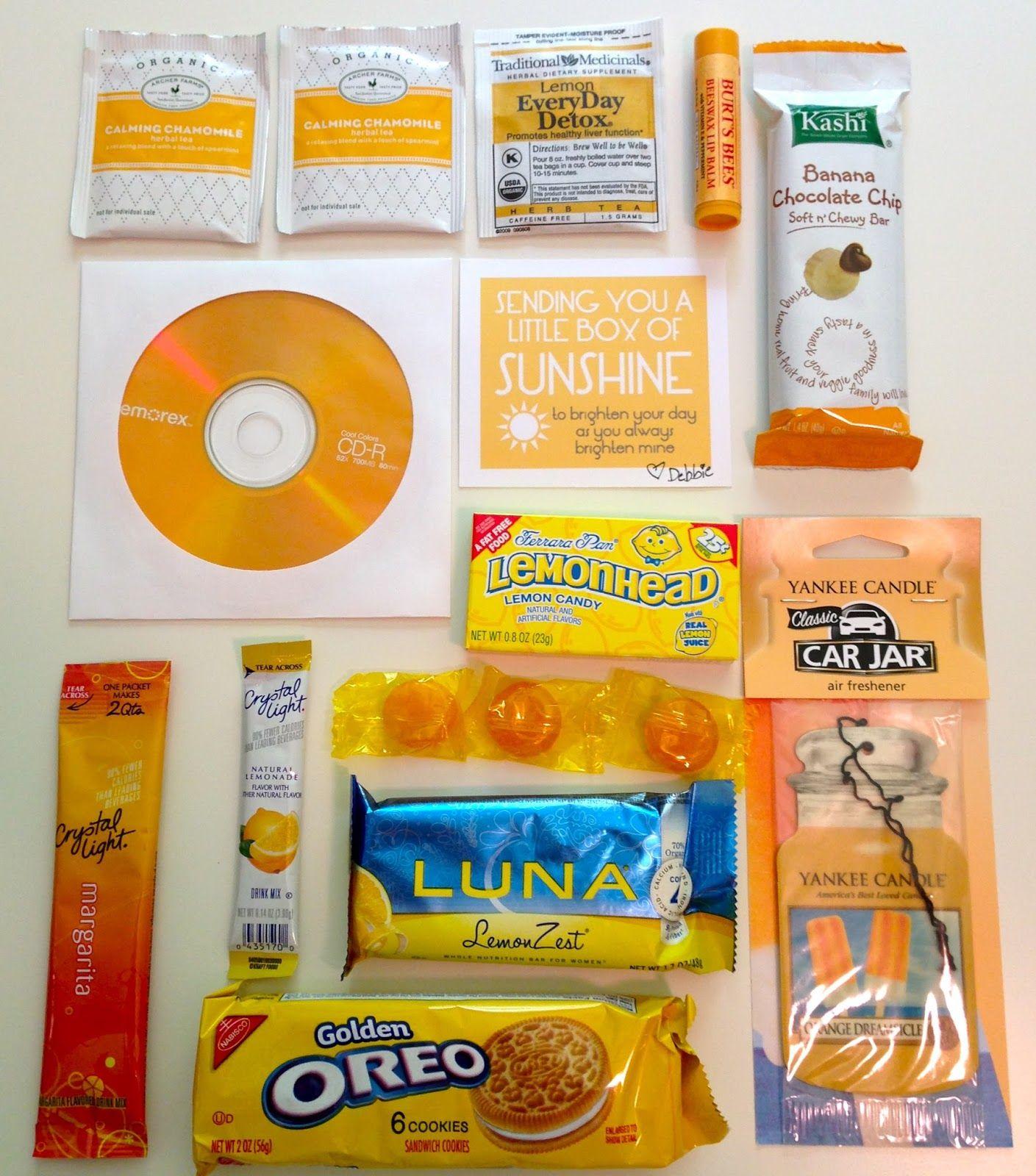 Box Of Sunshine, Homemade Gifts