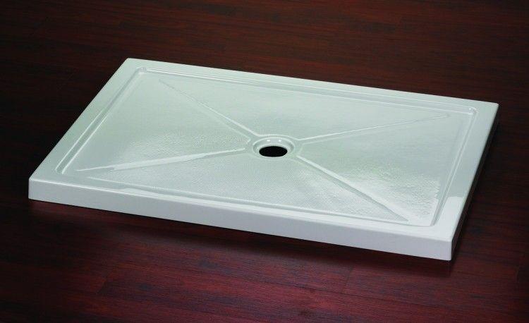 42 X 48 White Shower Base Shower Stall Enclosures Glass Shower